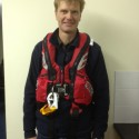 Keith Miller wearing the new ALB Lifejacket