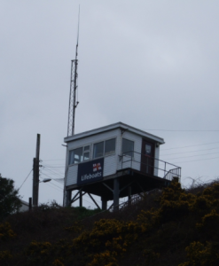 Watch box. Situated on top of the bank overlooking Rosslare Harbour.
